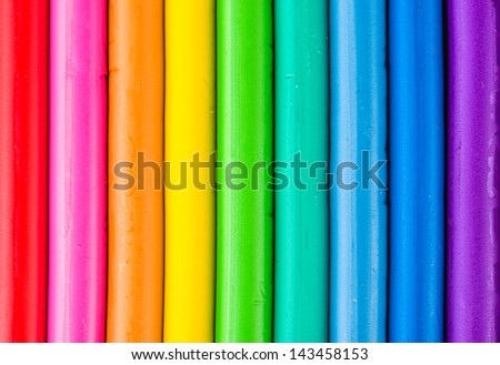 Background with colorful modeling clay - stock photo