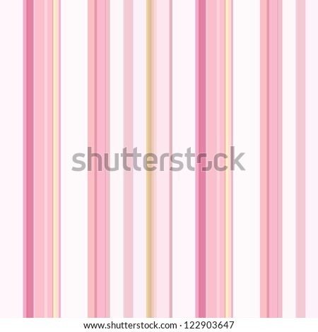 Background with colorful pink, beige, yellow  and white stripes - stock photo