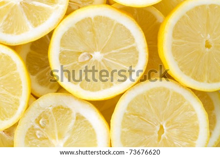 Background with cut lemons - stock photo