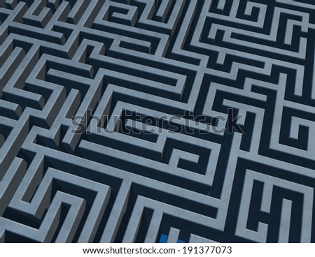 background with 3d maze - stock photo