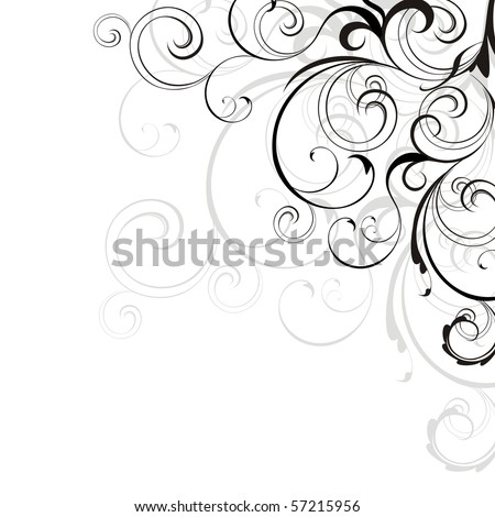 Background with design elements - stock photo