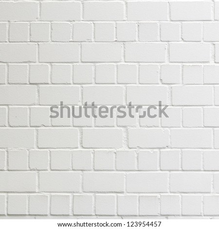 background with fragment of white brick wall - stock photo