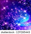 Background with glowing stars - stock photo