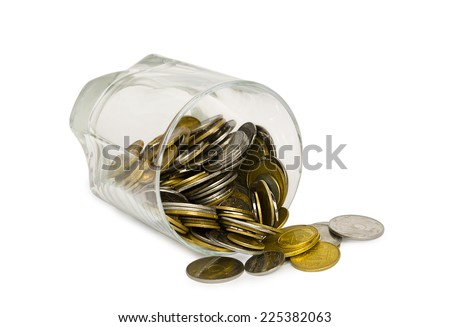 background with gold coins  - stock photo