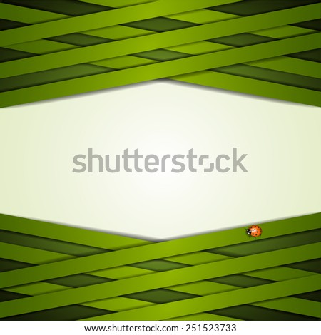 Background with green strips - stock photo