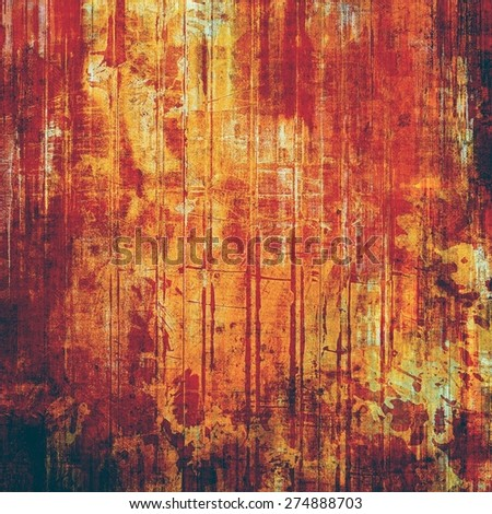 Background with grunge stains. With different color patterns: yellow (beige); brown; black; red (orange) - stock photo