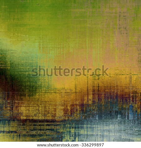 Background with grunge stains. With different color patterns: yellow (beige); brown; blue; green - stock photo
