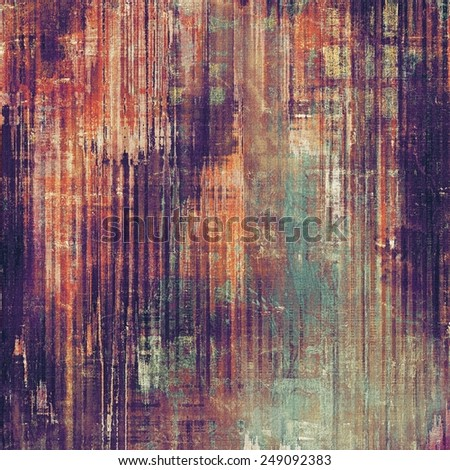 Background with grunge stains. With different color patterns: yellow (beige); brown; purple (violet); blue; red (orange) - stock photo