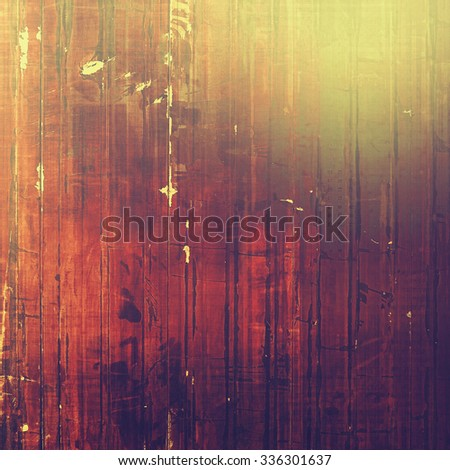 Background with grunge stains. With different color patterns: yellow (beige); brown; red (orange); purple (violet) - stock photo