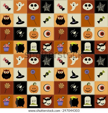Background with Halloween elements. Raster version - stock photo