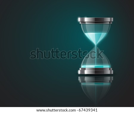 Background with hourglass - stock photo