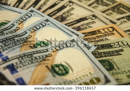 Background with money american dollar bills. - stock photo