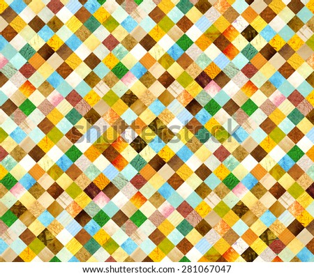 Background with paper patterns of different colors - stock photo