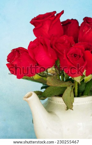 Background with red roses - stock photo