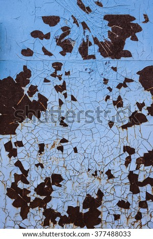 Background with rust and old paint cracks - stock photo