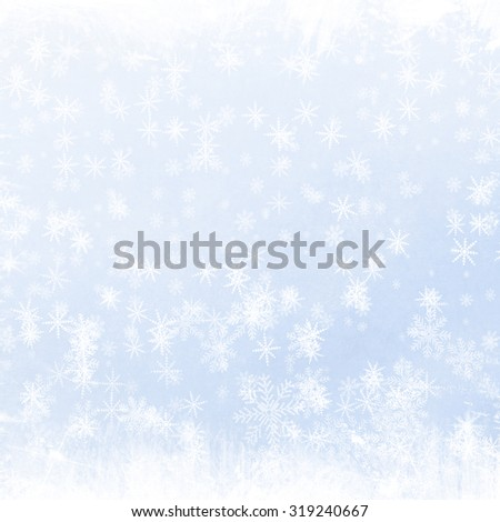 background with snowflakes - stock photo