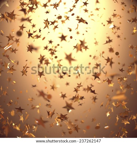Background with stars in depth of field. Celebration concept. - stock photo