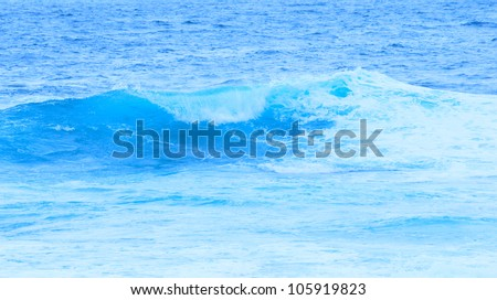 Background with waves in the ocean - stock photo