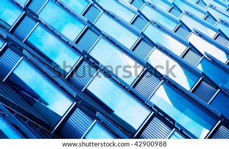 Background with windows of building - stock photo