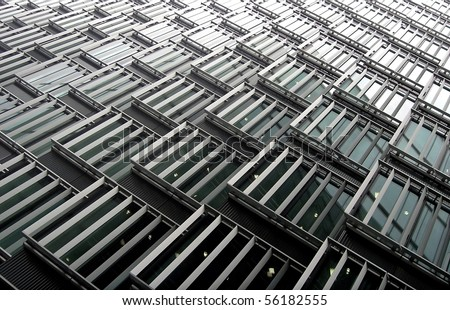 Background with windows of London building. - stock photo