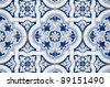Backgrounds and textures: Intricate ceramic tile design. - stock photo