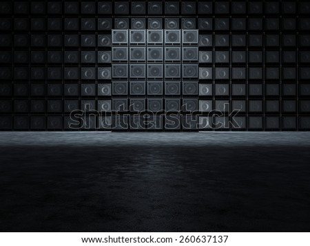 Backgrounds of guitar amplifiers - stock photo