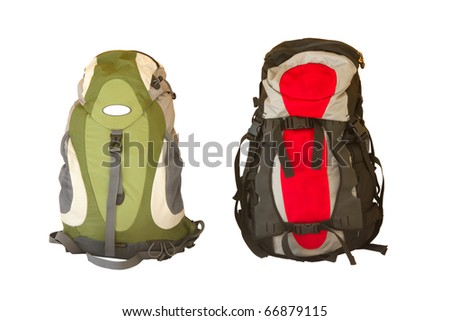Backpack travel - stock photo