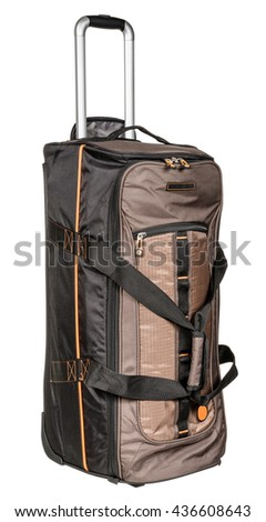 Backpack travel bag on a white background - stock photo