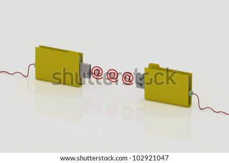 backup folder - stock photo