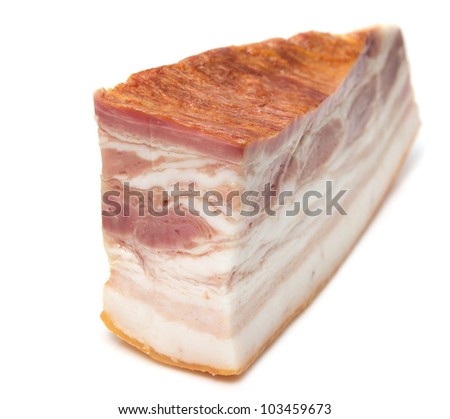 bacon on a white background - stock photo