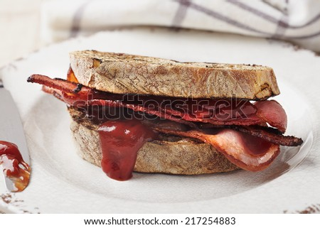 Bacon Sandwich - stock photo