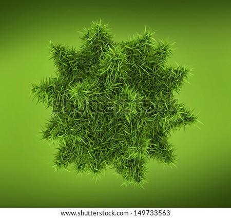 Bacteria, virus or phage under microscope on green background - stock
