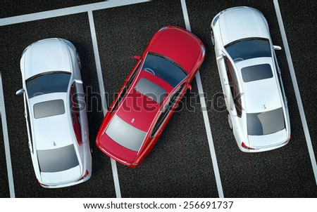 Bad Driver on Parking - stock photo