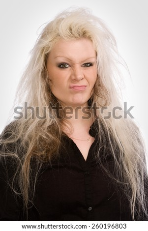 bad hair - stock photo