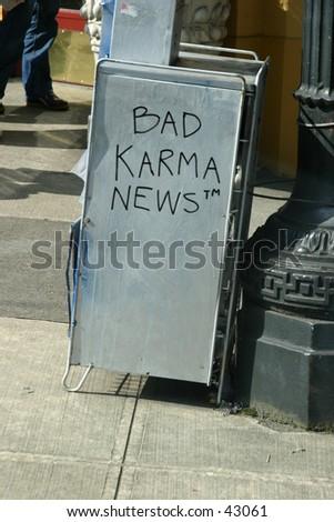 Bad Karma News - stock photo