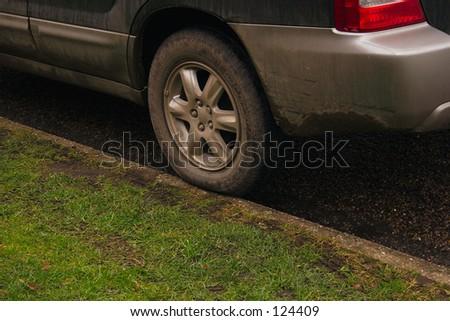 bad parking - stock photo
