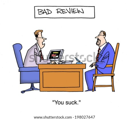 "Bad Review:  ""You suck."" - stock photo"