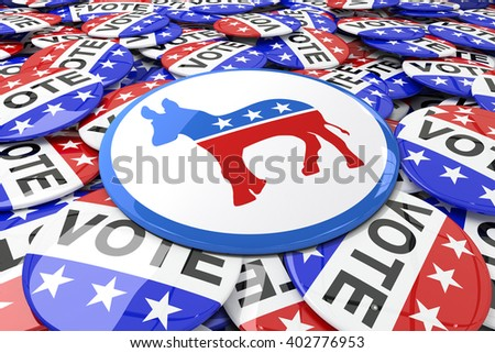 Badge against badges vote - stock photo