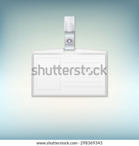 Badge holder on colored backgroound.  illustration for your design - stock photo