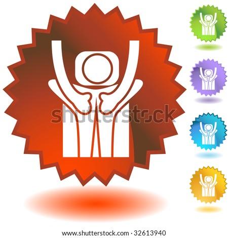 badge massage - stock photo