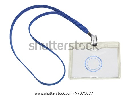 badge on a white background - stock photo