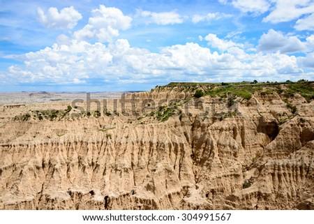 Badlands National Park - stock photo