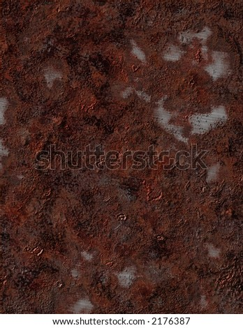 Badly rusted metal - stock photo