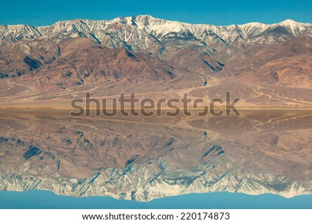 Badwater basin in Death Valley - stock photo