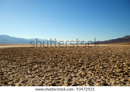 Badwater, Death Valley National Park  California, USA. - stock photo