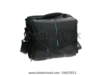 Bag for a camera isolated on white background - stock photo