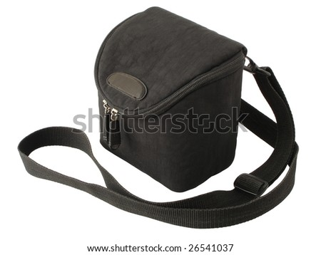 bag for the camera  isolated on a white background - stock photo