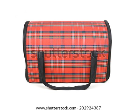 bag for transportation to the cats - stock photo