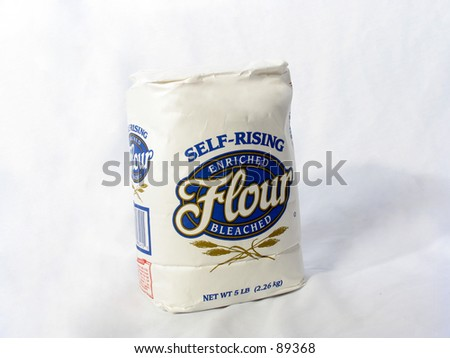 bag of flour - stock photo