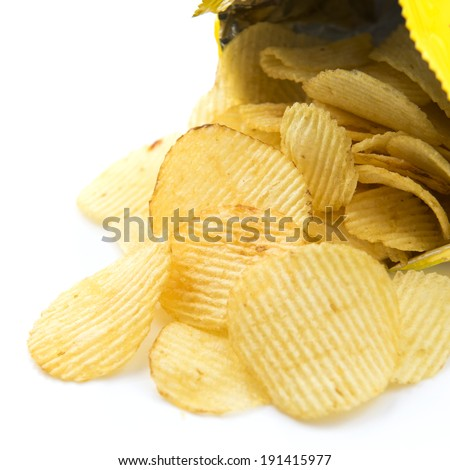 Bag of Potato Chips - stock photo
